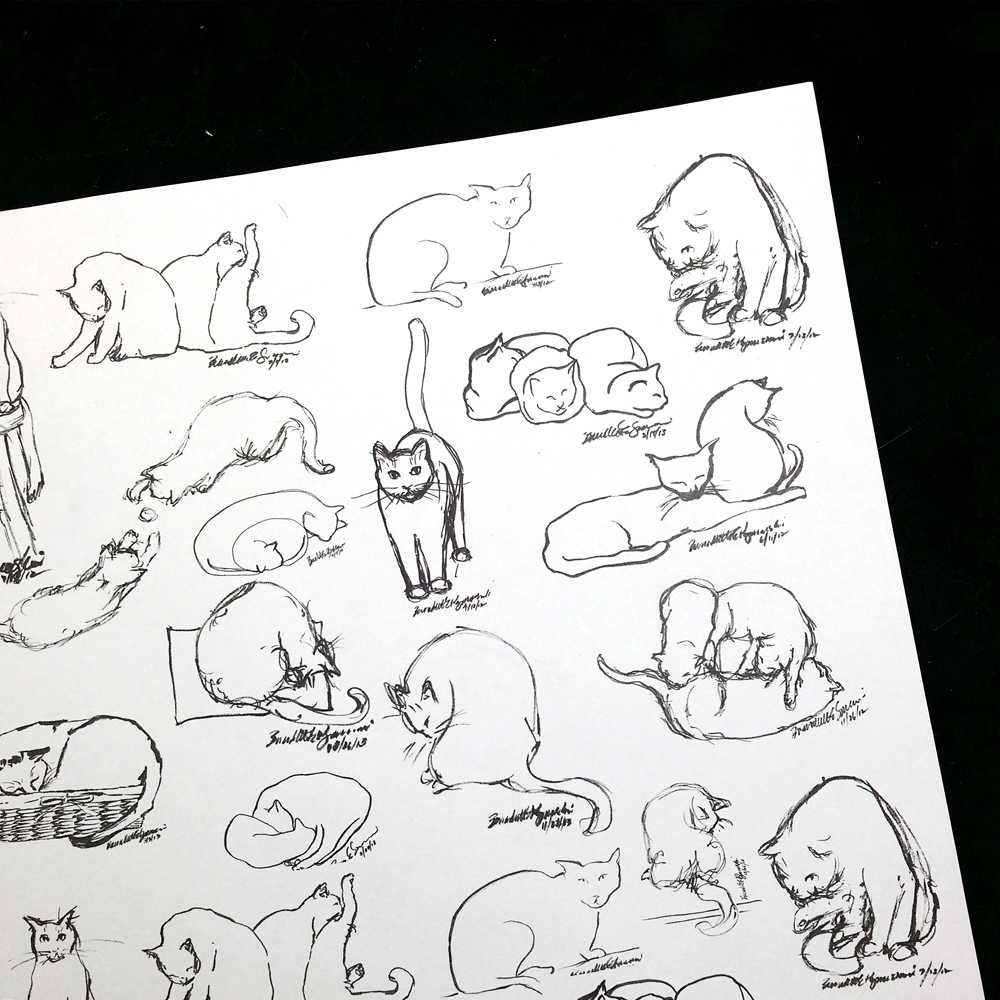 Brushy Kitties art papers