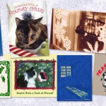 Feline-themed holiday cards from Portraits of Animals.