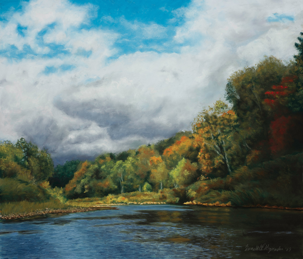 Autumn in the Valley, pastel, 31 x 27, 2010 © Bernadette E. Kazmarski
