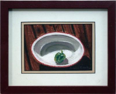 One Pepper, pastel, 5 x 7, 2001 © Bernadette E. Kazmarski