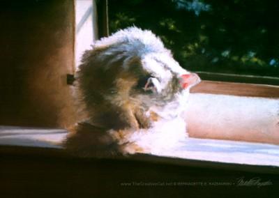 A Warm Bath, pastel, 12″ x 10″, 1997 © Bernadette E. Kazmarski