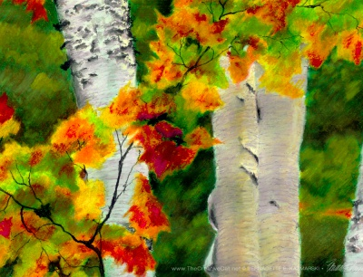 Birches 1, detail.