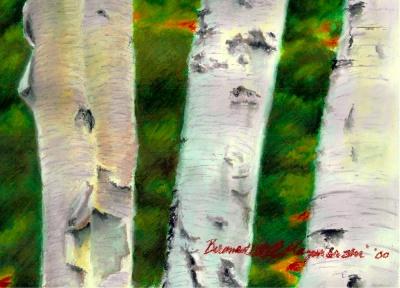 Birches 1, detail.