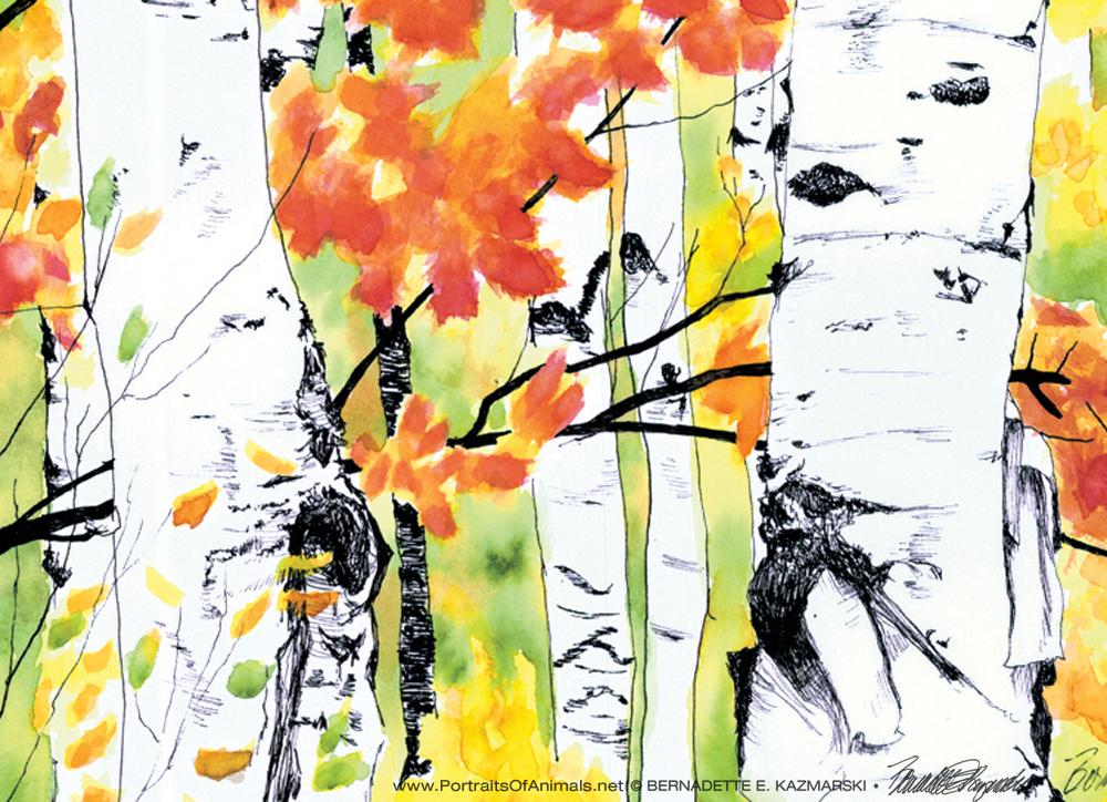 Birches 2, detail.