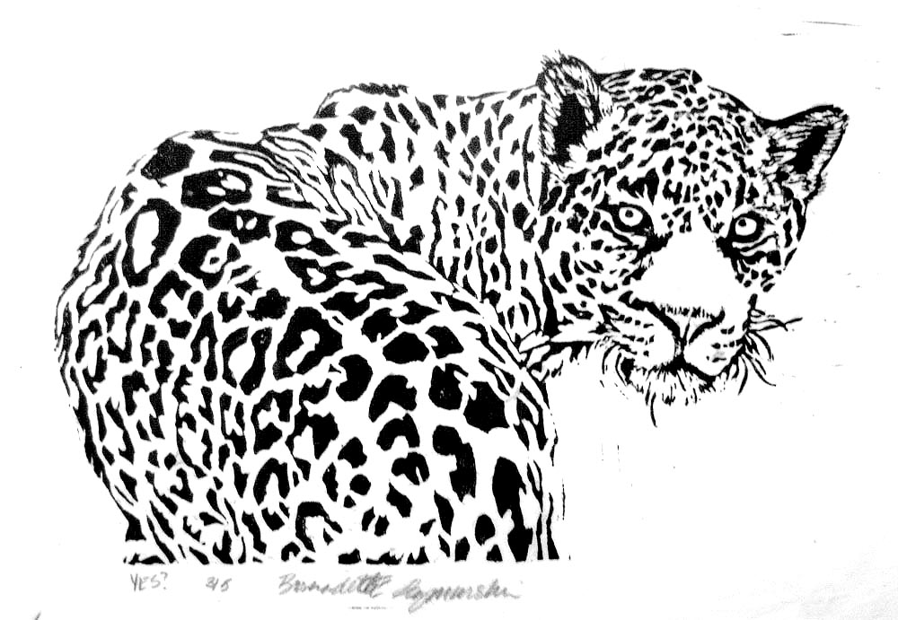 Wildlife Linoleum Block Prints  Portraits of Animals