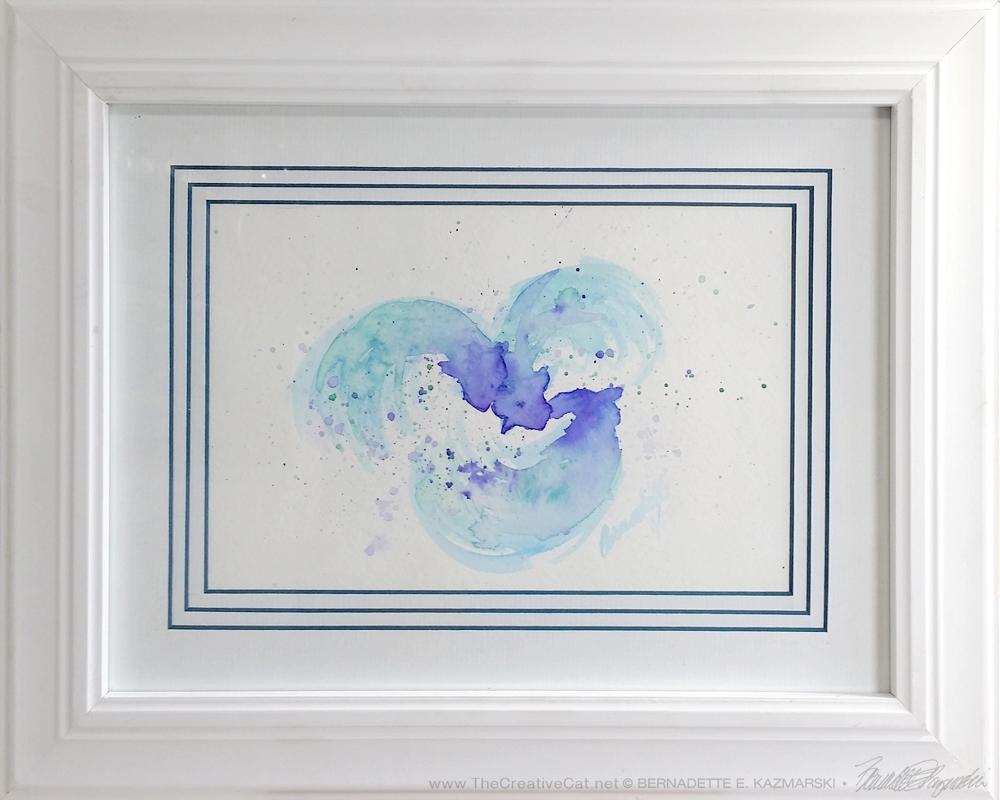 """""""Dreams of Three"""" custom framed."""