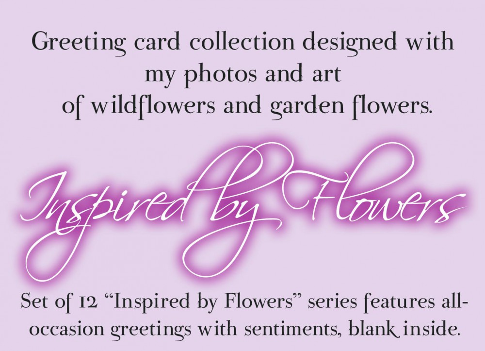 """Inspired By Flowers"" Greeting Cards"