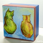 Front view Two Cats After van Gogh Keepsake Box