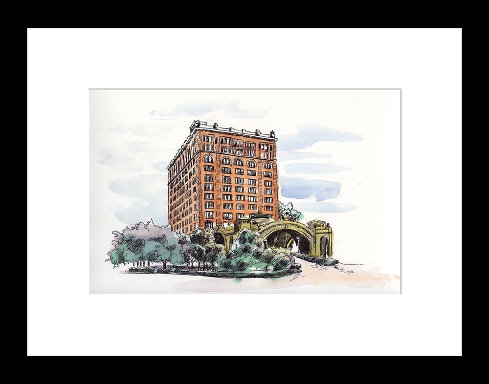 Pittsburgh's Pennsylvania Station, framed print.