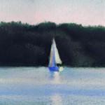 Serenity, pastel, 5 x 20, 1998 © Bernadette E. Kazmarski