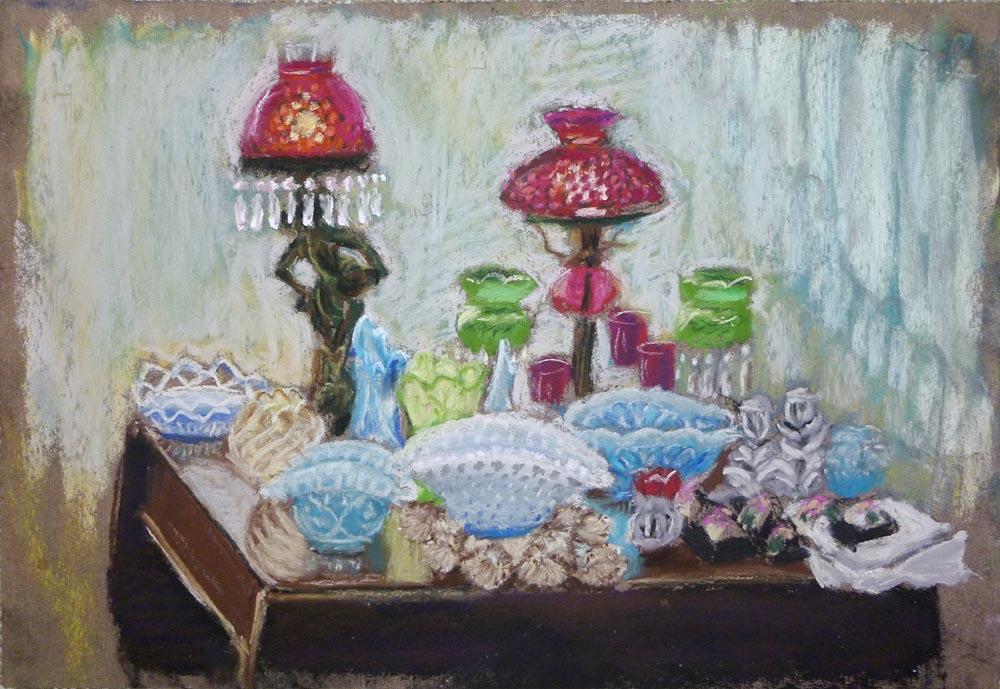 Vintage Glass, pastel, 8 x 10, 2012 © Bernadette E. Kazmarski