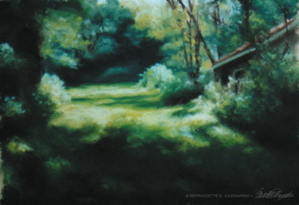 """""""Into the Woods at Frankfort Springs"""", the image for my first solo exhibit."""