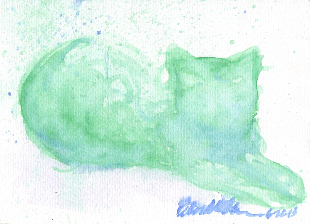 """Leaves and Shadows"", watercolor, 5"" x 7"" © Bernadette E. Kazmarski"
