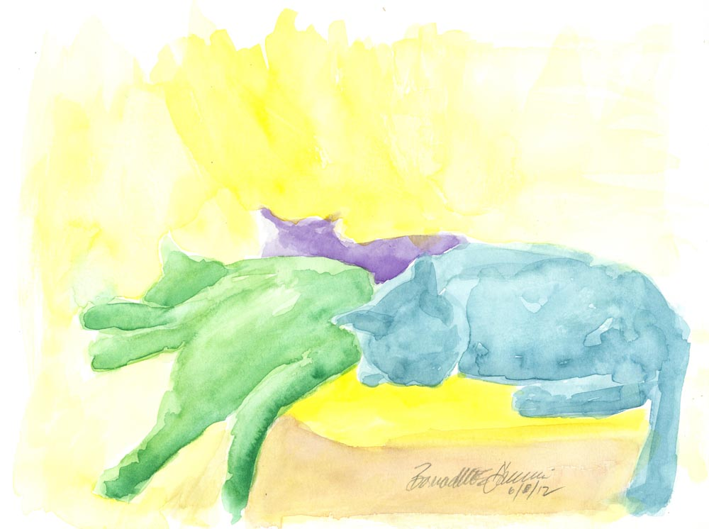 """Lazy Saturday Afternoon"", watercolor"