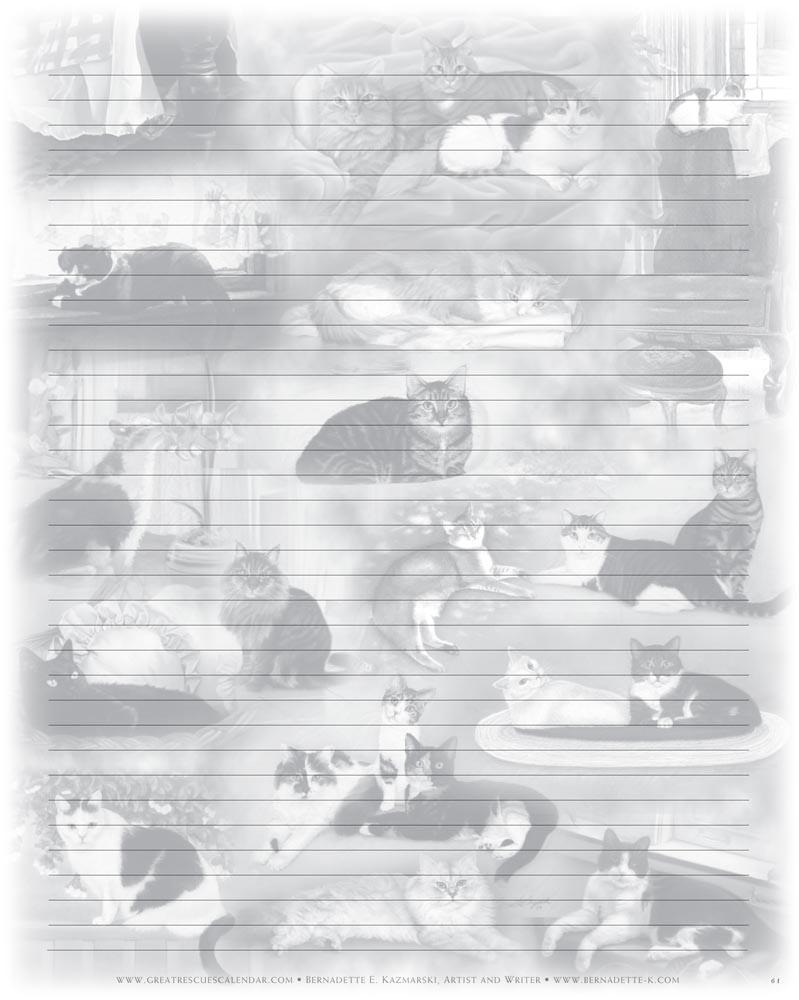 22 Cats Notepaper