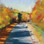 "Colorful Autumn Trail, 8"" x 12"", pastel © Bernadette E. Kazmarski"