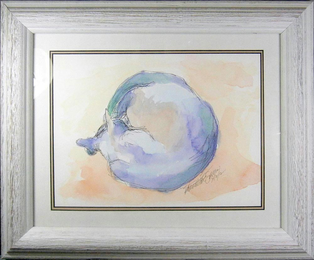 World Cat, framed.
