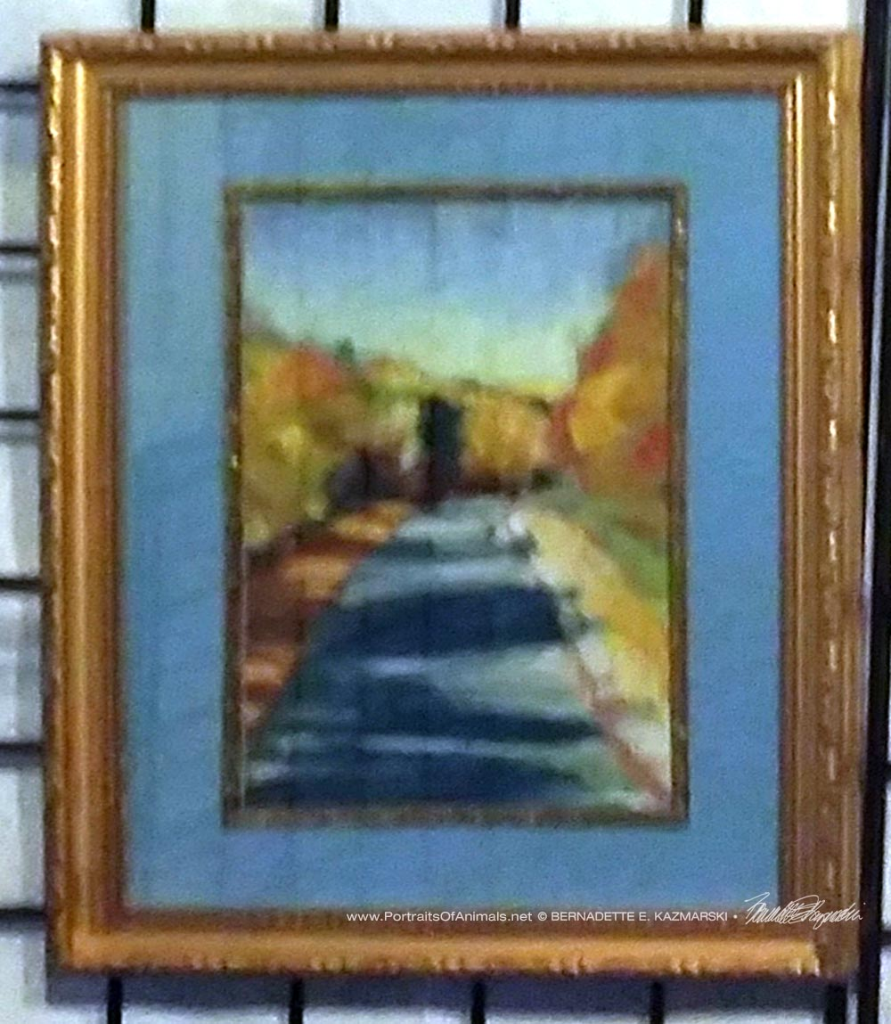 Framed original--I apologize for the bad photo!