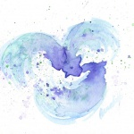"""Dreams of Three"", watercolor, 9"" x 6"" © Bernadette E. Kazmarski"