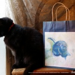Cool Morning Bath Winter Cats Gift Bag
