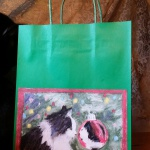 Sophie Gets a Look at Herself Gift Bag in green