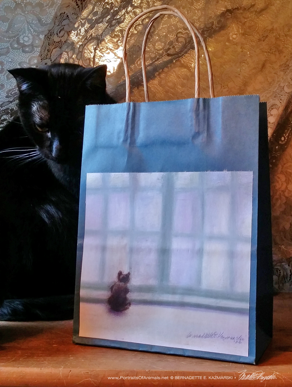 Winter Window Winter Cats Gift Bag