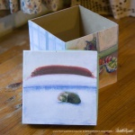 Winter Cats Keepsake box, top removed.