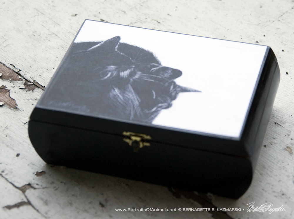 Black and Light Repurposed Wooden Box Keepsake