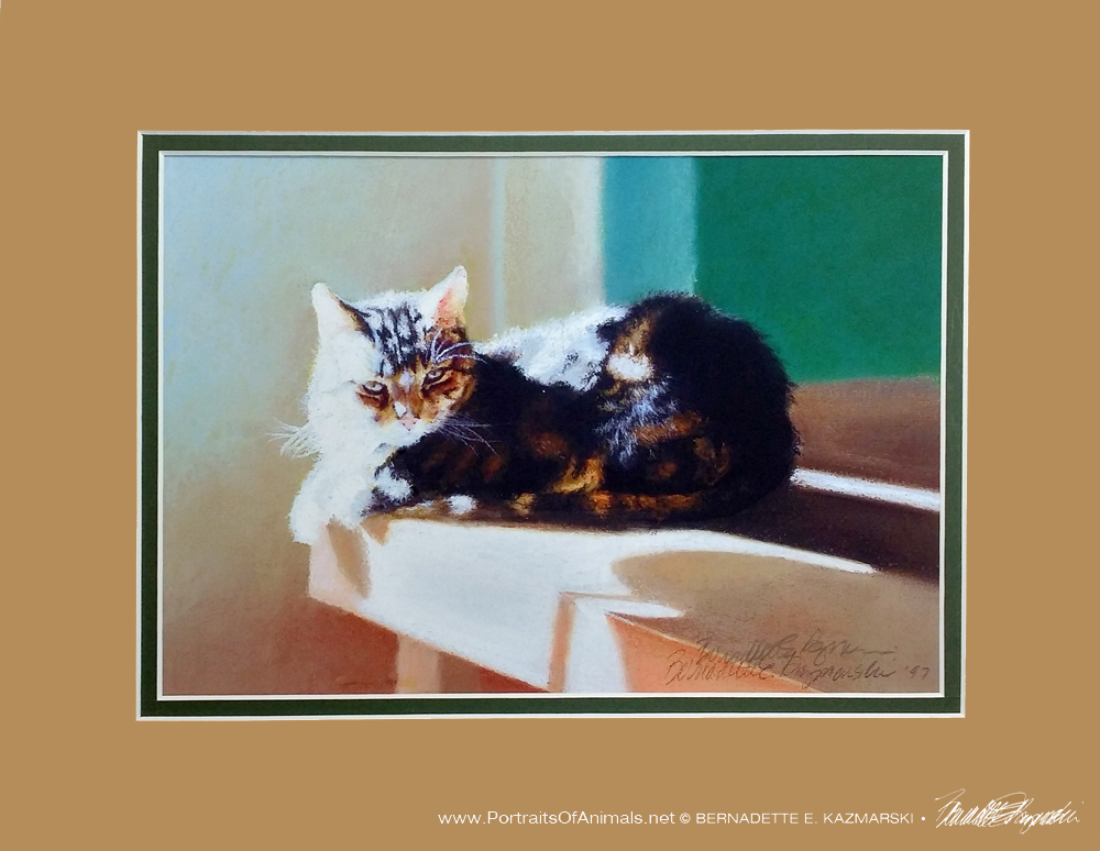 """After Dinner Nap"" matted for the November Sampler Box"