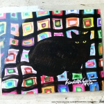 Mewsette on the Afghan, 8 x 10 laminated placemat