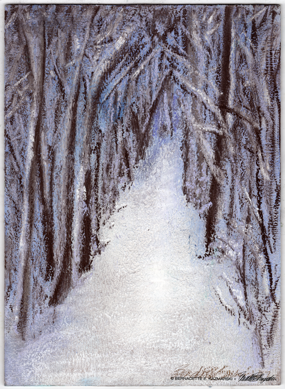 """Promises to Keep"", soft pastel on self-prepared board, 8 x 12 © Bernadette E. Kazmarski"
