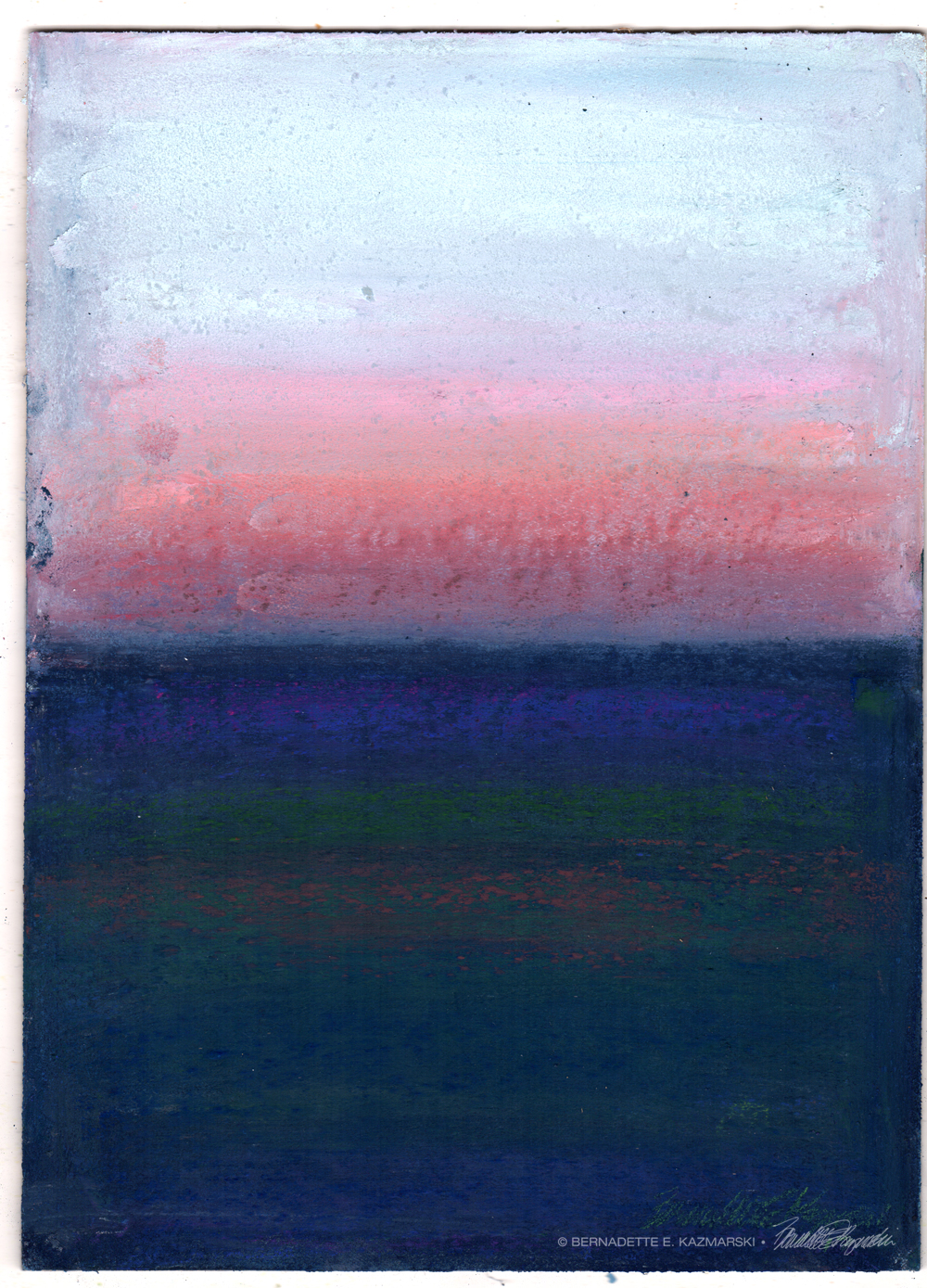 Winter Sunset, After Rothko, pastel on prepared board, 8 x 12 © Bernadette E. Kazmarski