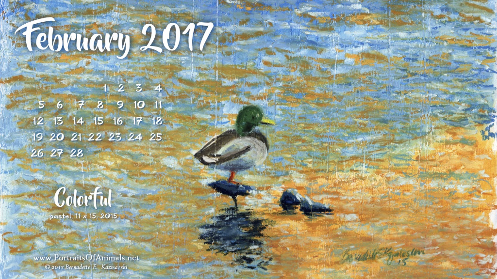 """Colorful"" desktop calendar 2560 x 1440 for HD and wide screens."
