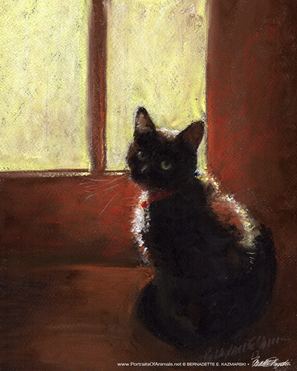 """Mimi is Ready for Spring"", pastel on pastello paper, 8 x 10 © Bernadette E. Kazmarski"