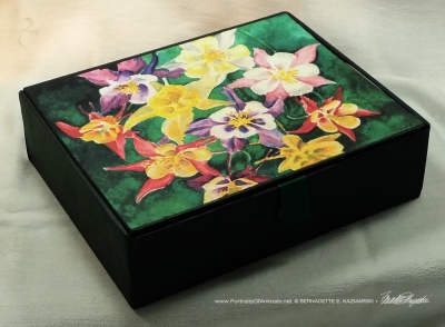 My Mother's Columbines Vintage Cardboard Cigar Box Keepsake.