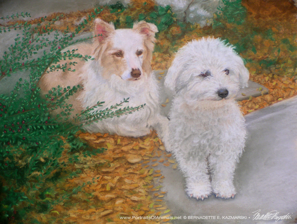 """Being Very Good"", pastel, 12 x 18, 2007 © Bernadette E. Kazmarski"