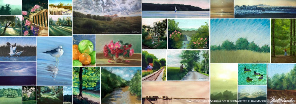 A gallery of summer artwork.