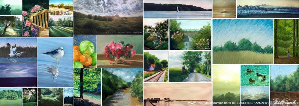 A gallery of summer artwork.