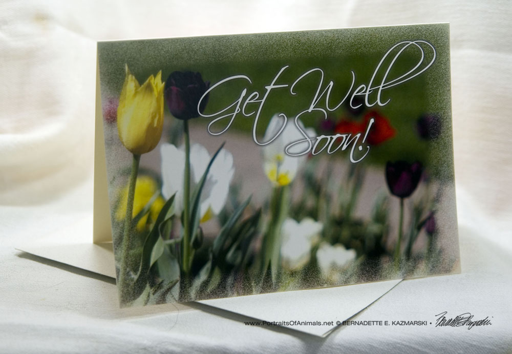 Get Well Soon Inspired by Flowers Greeting Card