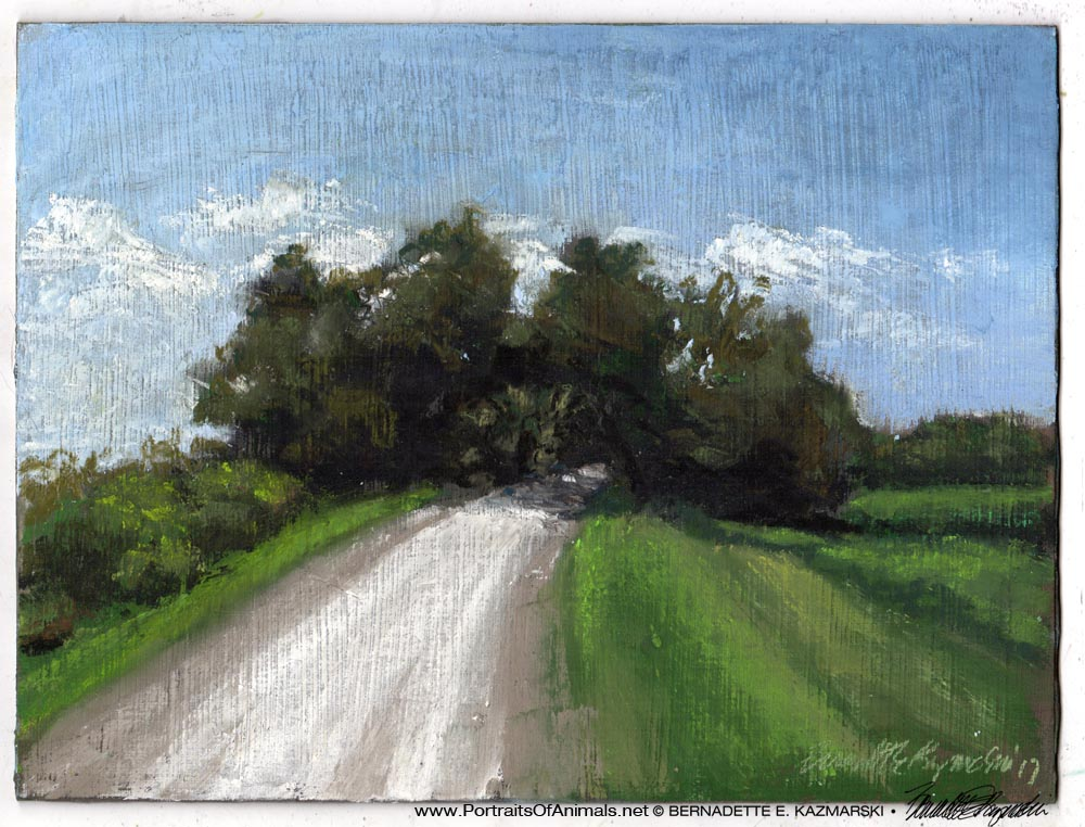 Marsh Road, pastel on self-prepared board, 8 x 11 © Bernadette E. Kazmarski
