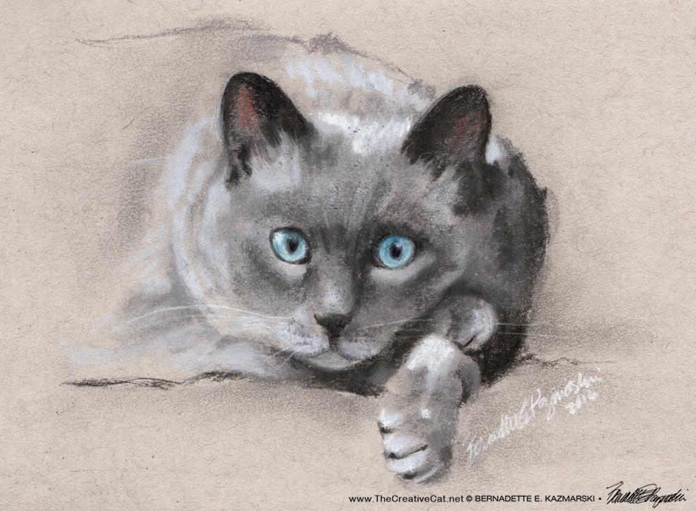"Chloe, charcoal on tinted paper, 5"" x 7"" © Bernadette E. Kazmarski"