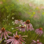 Evening Wildflowers, pastel, 10 x 14 © Bernadette E. Kazmarski