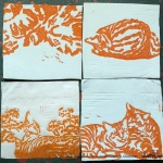 """Tabbies"" tiles in orange."