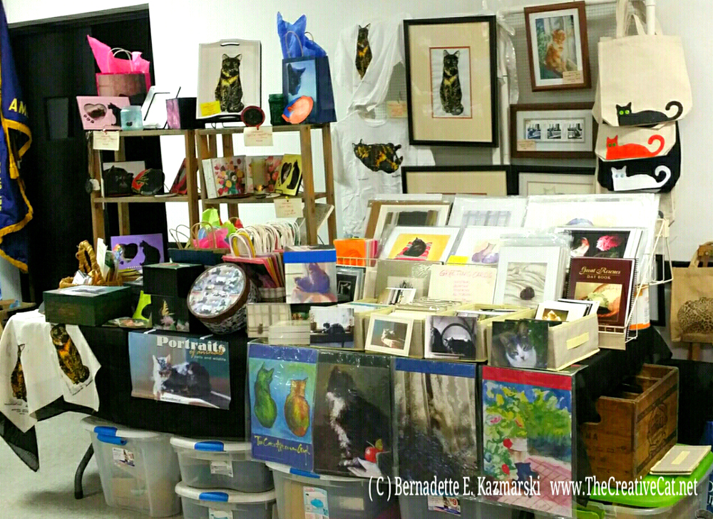 Display at Pet Search Art, Craft & Vendor Show