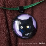 Bella in Purples Cabochon Pendant
