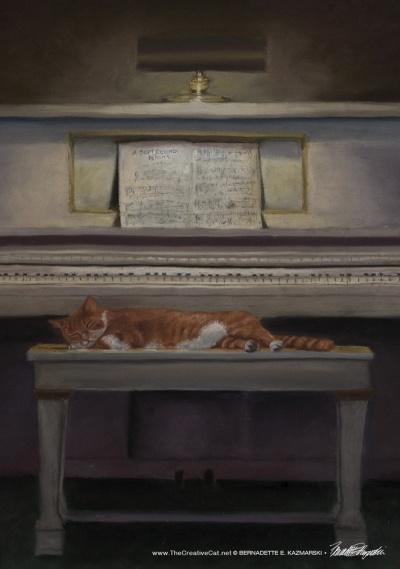 Allegro Moderato, pastel, 14 x 20 © Bernadette E. Kazmarski