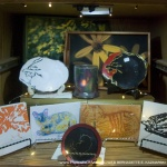 Decorative trays, votives, tiles and decorative dishes.