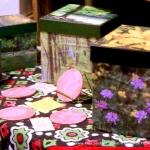 Trail images cube keepsake boxes.