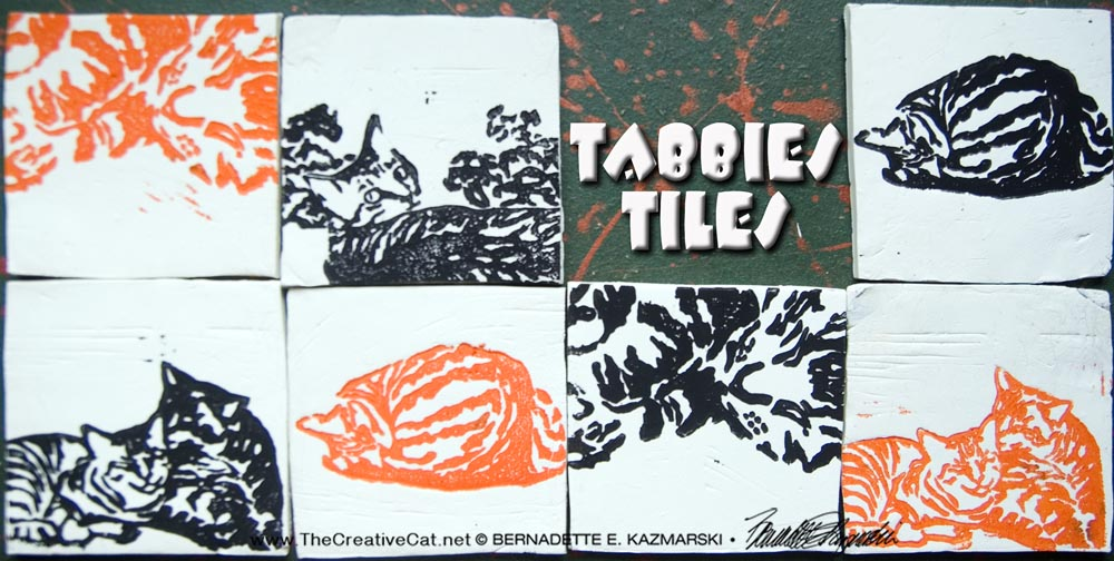 Tabbies Tiles in orange and black.