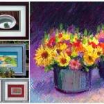 Original art, florals and still lifes.
